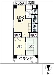 福洋マンション[4階]の間取り