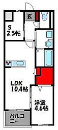 JR香椎線 須恵駅 徒歩32分の賃貸マンション 3階1SLDKの間取り