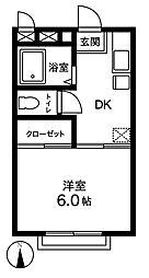 ベアパレス[2階]の間取り