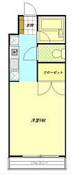 神奈川県横浜市神奈川区神大寺2丁目の賃貸マンションの間取り