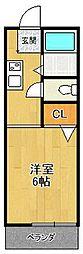 パークヴィラ甲子園口(北棟)[1F号室]の間取り