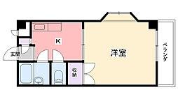 兵庫県西宮市今津二葉町の賃貸マンションの間取り