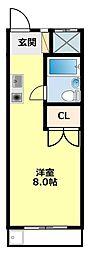 愛知県豊田市元城町3丁目の賃貸マンションの間取り