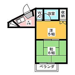 メゾンノーブル 単身専用[6階]の間取り