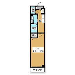 Casa Sereno 室町 2階1Kの間取り