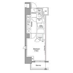JR山手線 巣鴨駅 徒歩8分の賃貸マンション 10階1Kの間取り
