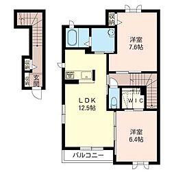 アクアルーチェ West side[2階]の間取り