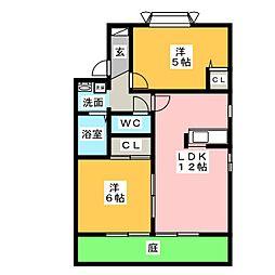 ヴァンテージ神ノ倉[1階]の間取り