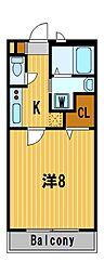 神奈川県横浜市港北区鳥山町の賃貸アパートの間取り