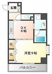 プロスパー江坂[3階]の間取り