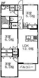 神奈川県横浜市泉区中田南4丁目の賃貸マンションの間取り
