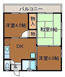 百合丘ハイデンス[2階]の間取り