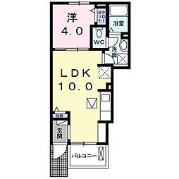 エレガントヴィエⅦ[1階]の間取り