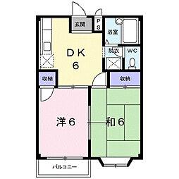 エルディム60[2階]の間取り