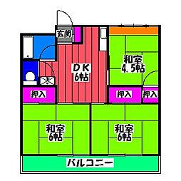 大島ビル[2階]の間取り
