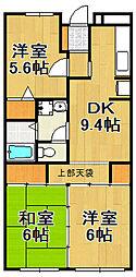 アムール千間台[3階]の間取り