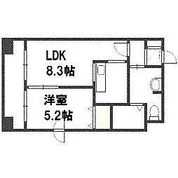北海道札幌市豊平区豊平三条5丁目の賃貸マンションの間取り