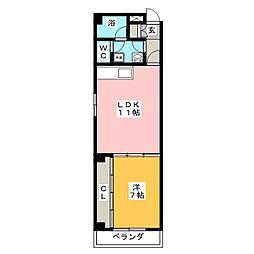 ジュネス・KOKAMO[3階]の間取り