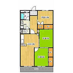 第1マンダイマンション[3階]の間取り