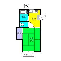 メゾンドロンドン[2階]の間取り