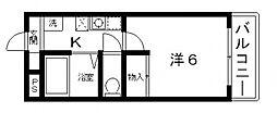 ハイツ・ドアーン[6階]の間取り