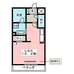 M&Mルコネッサンス 3階ワンルームの間取り