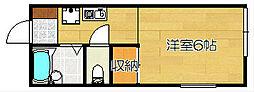 大阪府高槻市芝生町2丁目の賃貸アパートの間取り