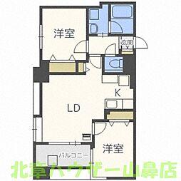 NOVA大通II(ノヴァ大通II)[4階]の間取り