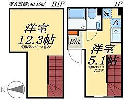JR総武線 浅草橋駅 徒歩7分の賃貸マンション 1階1SKの間取り