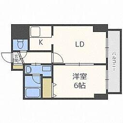 ドーリス札幌[4階]の間取り