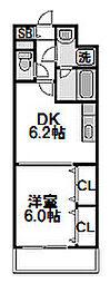 サンプレイス[3階]の間取り