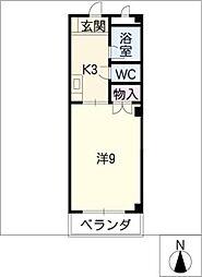 ウッドベル[3階]の間取り