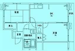 コートカメリア[1階]の間取り