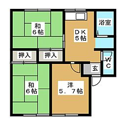 メゾン花園2[1階]の間取り