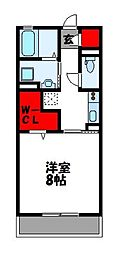 D-room O-DIK GARDEN 1階1Kの間取り