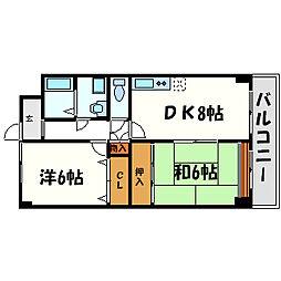 ラクシュミー常光寺[3階]の間取り