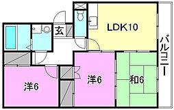 コモドハウス[102 号室号室]の間取り