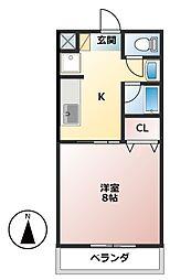 レスパスドルポIII[1階]の間取り