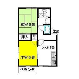 茨城県神栖市平泉の賃貸アパートの間取り