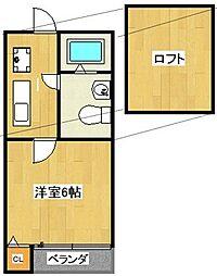 プランドール更屋敷[202号室]の間取り