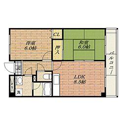 ロアジール西口[3階]の間取り