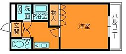 奈良県香芝市狐井の賃貸マンションの間取り