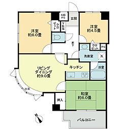 ライオンズマンション東川口AKAO[5階]の間取り