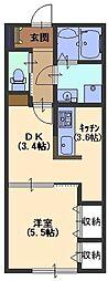 ケーティーハイツ A棟[202号室号室]の間取り