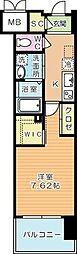 ウイングス西小倉[8階]の間取り