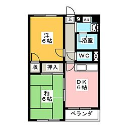 サンハイム徳倉[1階]の間取り
