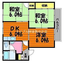 岡山県総社市清音柿木丁目なしの賃貸アパートの間取り