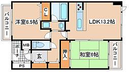 兵庫県神戸市中央区脇浜海岸通4丁目の賃貸マンションの間取り