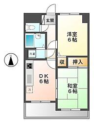 ライオンズマンション正木[2階]の間取り
