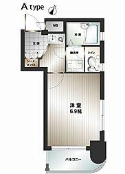 ダイナコート六本松II[4階]の間取り